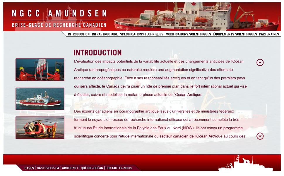 Site Web de l'Amundsen